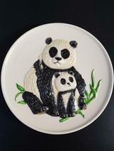 Goebel Pandas Mothers Plate 1977 No Box FREE SHIP - $19.50