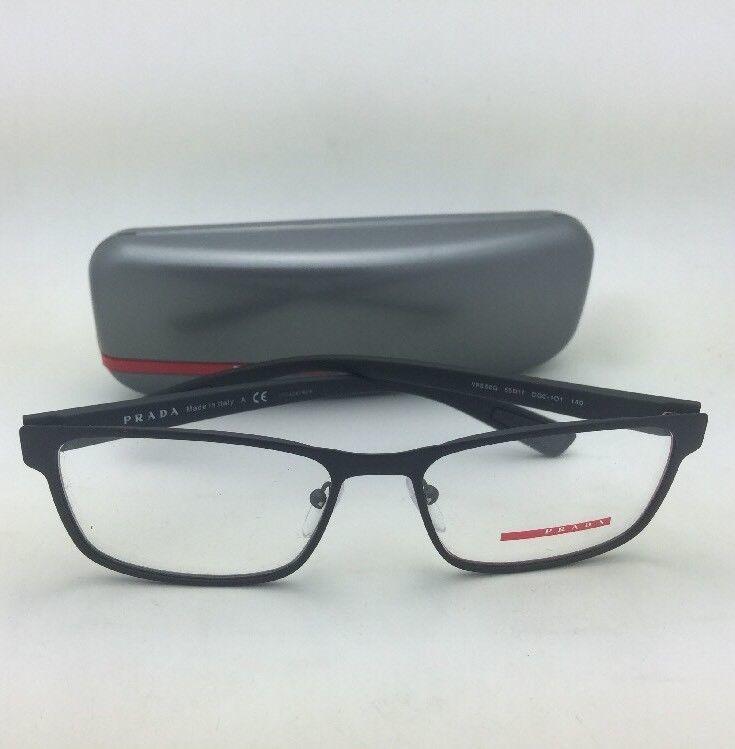 2d39d8de98 New PRADA Eyeglasses VPS 50G DG0-1O1 55-17 140 Rubberized Black   Red