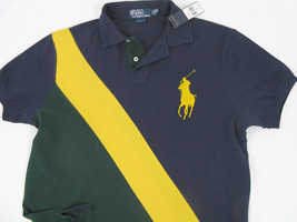 NEW! $125 Polo Ralph Lauren Big Pony Sash Striped Polo Shirt!  M  *Custo... - $69.99