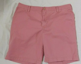 Men's IZOD shorts sz 42 Saltwater washed salmon pink shorts cotton flat ... - $9.89