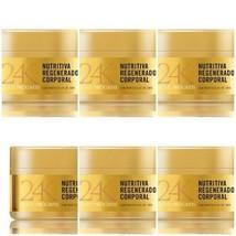 6 X 200 ml - SPANISCHE BODY CREME 24K - ORO  GOLD PROGRESS MIT ORO PARTIKEL - $37.02