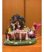 Alice Snow globe Tea party Music box Figure dome White Rabbit light Orna... - $1,282.05