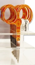 "Orange Sunburst Scissors 3.5"" Embroidery Scissors cross stitch accessory  - $5.00"