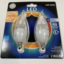 GE Lighting LED Light Bulbs 40W - 4W Dimmable Soft White Replacement 2 Bulbs - $11.28