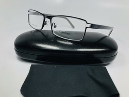 New Calvin Klein Collection CK7279 401 Black & Grey Eyeglasses 53mm with Case - $79.20