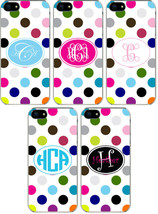 Rainbow Polka Dot Pattern Personalized iPhone 6 Custom Slim Hard Case Cover - $13.95