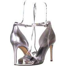 Nine West Matteo Knöchelriemen Kleid Sandalen 893 Silber Metallic 8 US - $59.99