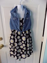 Justice  Black/White/Yellow Flower  Dress Size 12 Girl's EUC  - $39.99