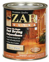 Zar Ultra 1QT Clear Gloss Oil Based Fast Polyurethane 32812 United Gilsonite Lab image 2
