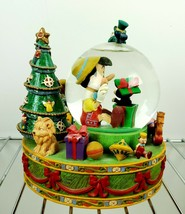 Disney Pinocchio snow globe music box Christmas   - $74.33