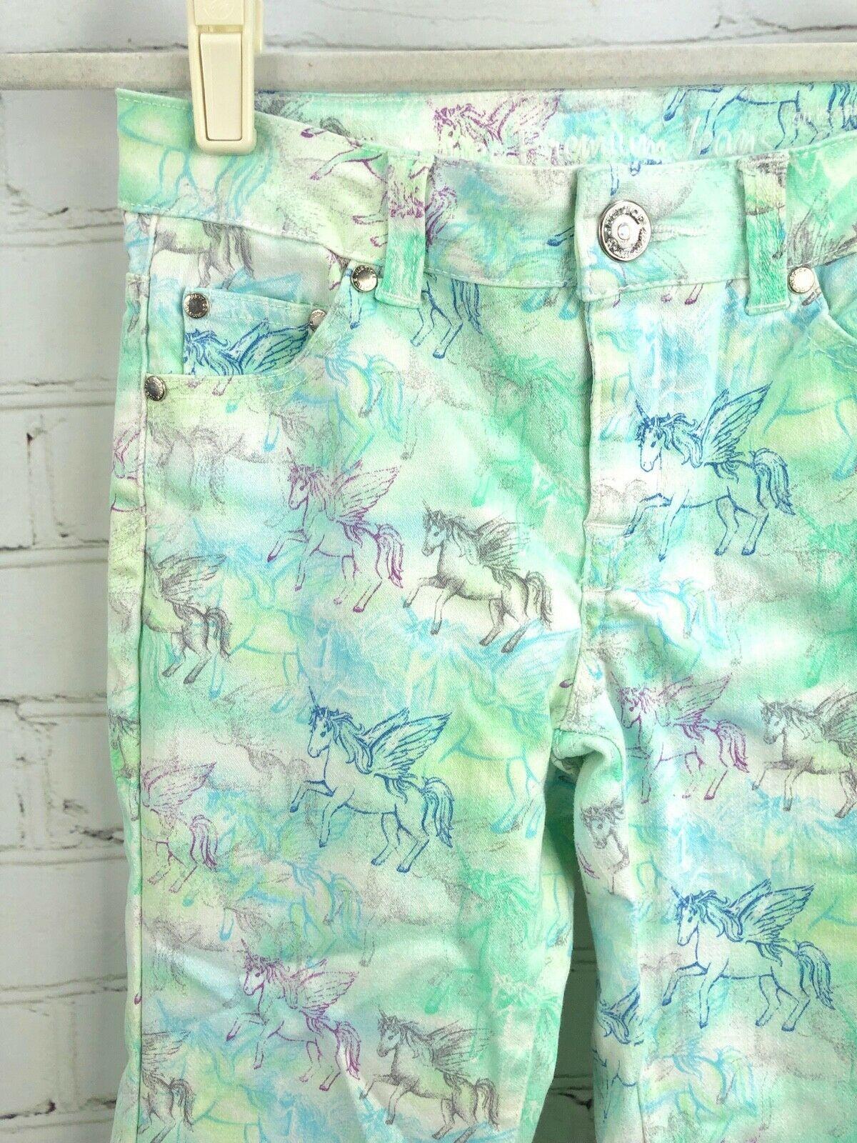JUSTICE Lightweight Sweater Top + Unicorn Premium Jeans Size 12 Set Lot image 7