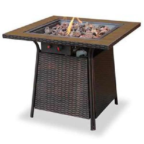 Uniflame lp Fire Pit Slate 30,000 btu Propane Outdoor Patio Deck Fire Table