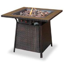 Uniflame lp Fire Pit Slate 30,000 btu Propane Outdoor Patio Deck Fire Table - $282.19