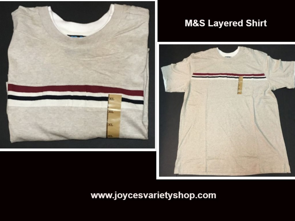 M s gray layered look shirt web collage