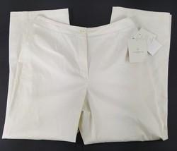 Liz Claiborne Womens 8 Ivory Career Dress Straight Stretch Pants Ankle S... - $18.69