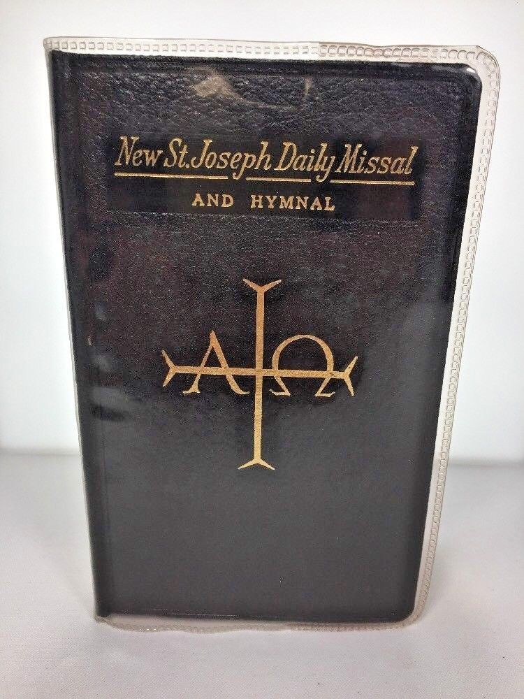 Primary image for New St Joseph Daily Missal Black 1966 Catholic Prayer Hymnal Clear Cover