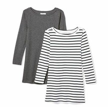 Daily Ritual Women's Midweight 100% Supima Cotton Rib Knit 3/4-Sleeve Bo... - $17.47