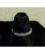 10k 10 DIAMOND Ring Band Wedding Stackable White Gold New w/Tag Vintage M/F - $326.69