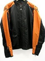 Men's Harley-Davidson Jacket Size Small Full Zip Orange/Black Nylon-9706... - $95.93