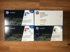 HP 647A 648A CMYK Print Cartridge Set For LaserJet Ent CP4025 Same Day s... - $415.80