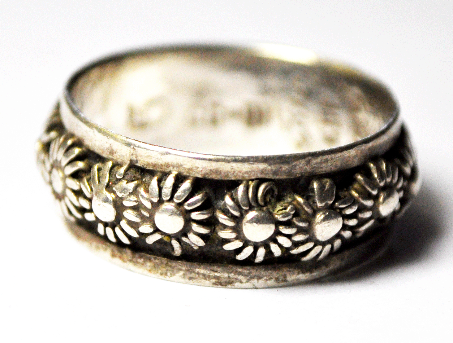 TAXCO 950 STERLING SILVER OXIDIZED WRAP AROUND RING Mexico Vintage Style Jewelry