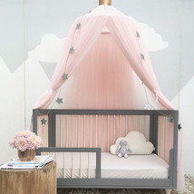 Canopy Round Dome Kids Mosquito Net Bed Curtain Bedding Cotton Baby Prin... - $57.89
