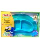 Nuby Baby Led Feeding Sure Grip Miracle Mat Section Plate Green NEW! - $9.73