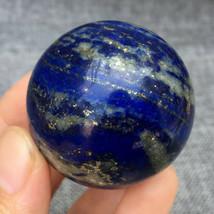 Natural Lapis lazuli Sphere Quartz Crystal Ball Rock Healing 35mm+ 1pc - $45.99