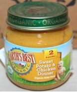 EARTH'S BEST Organic Stage 2 Sweet Potato & Chicken Dinner 12 / 4 oz Jar... - $8.80