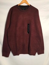 NEW Geoffrey Beene Sweater Mens XL Crewneck Pullover Cabernet Color $65 ... - $24.49