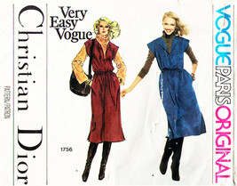 Vtg Misses' JUMPER Vogue Paris Orig Christian Dior Pattern #1756 Size 16... - $25.00