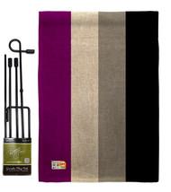 Asexua Burlap - Impressions Decorative Metal Garden Pole Flag Set GS148002-DB - $33.97