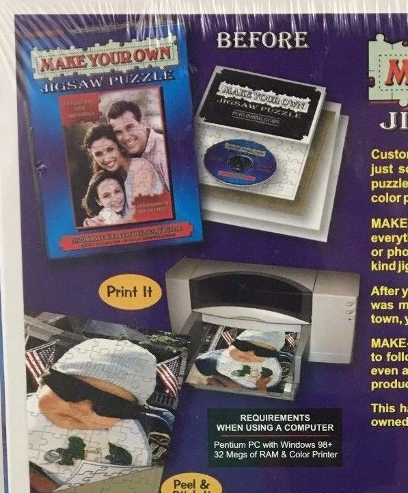 Jigsaw Puzzle Making Kit Make Your Own and 24 similar items