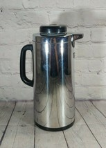 Vintage The Peacock Vacuum Bottle Co Stainless Steel Coffee Thermos Japa... - $19.79