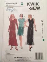 Kwik Sew Pattern 2619 Kwik Serge A-Line Skirt Top Variations XS-XL Uncut Modest - $9.99