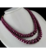 NATURAL UNHEATED RUBY BEADS ROUND 2 LINE 1380 CTS 18MM BIG GEMSTONE NECK... - $11,400.00