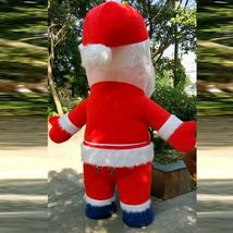 Christmas Inflatable Santa Claus Mascot Costume Saint Nick Suits Cosplay Plush P image 3