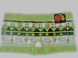"""LOT OF 2 DR. SEUSS THE GRINCH """"ALWAYS NAUGHTY"""" WINTER THEMED BOYSHORTS P... - $9.99"""