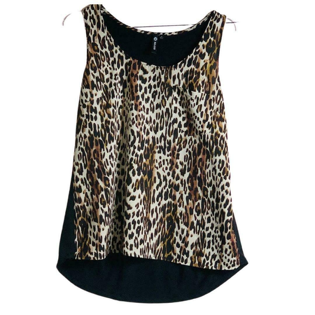 Primary image for Leopard Print Top Sleeveless Sz L