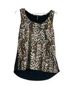 Leopard Print Top Sleeveless Sz L - $16.00