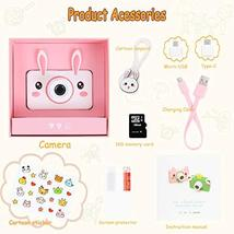 "Kids Camera Gifts for Girls, 2"" IPS Screen 8.0MP Shockproof Mini Child Video Cam image 2"