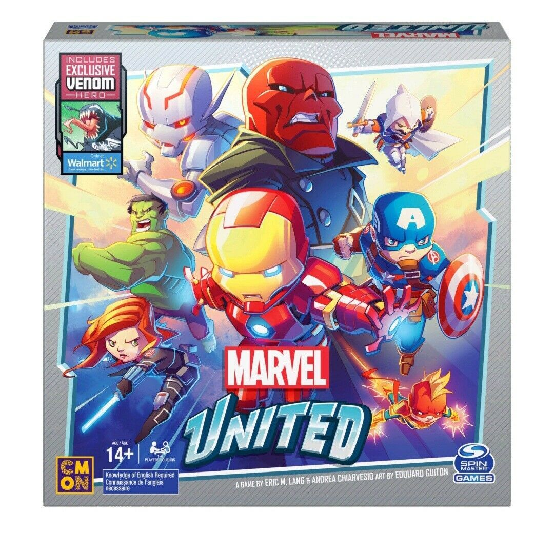 Primary image for NEW SEALED 2020 Spinmaster Marvel United Board Game w/ Venom Figure Walmart Exc