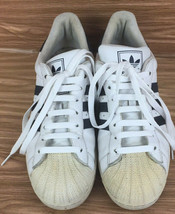 Adidas Superstar MENS Size 10 White Leather Navy Stripe Shell Toe Low To... - $38.55 CAD