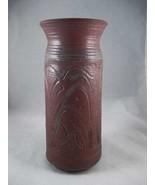 Unique Signed Pottery Art Deco Vase Studio Folk... - $22.00