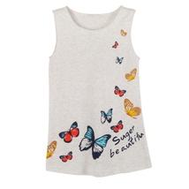 (gray size 5)2-7Y Summer Kids Girls Sleeveless Dress Girls Ice silk Clot... - $20.00