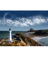 Lighthouse Vintage 8X10 Color Historical Memorabilia Photo - $6.99