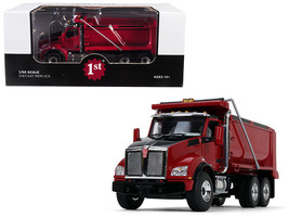 Kenworth T880 Tandem Axle Dump Truck Red 1/50 Diecast Model by First Gear - $102.94