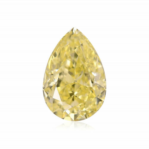 Primary image for 0.56 Carat Fancy Yellow Loose Diamond Natural Color Pear Shape GIA Certified
