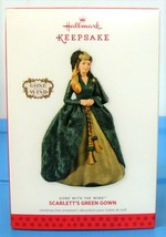 2013 Hallmark Gone With the Wind Christmas Ornament Scarlett's Green Gown - $16.90