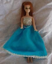 Vintage Dawn Glori  Red Head  Doll  1970's  Topper w Blue Bell  Dress Gown - $14.80